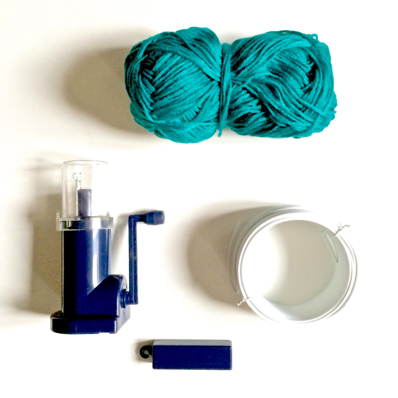 Diy le sapin de no l en tricotin rock and paper - Que faire avec un tricotin rond ...