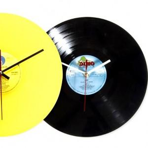 upcycling-horloge-murale-vinyle