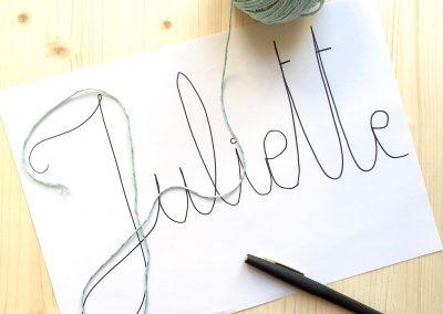 gabarit pour mot en laine