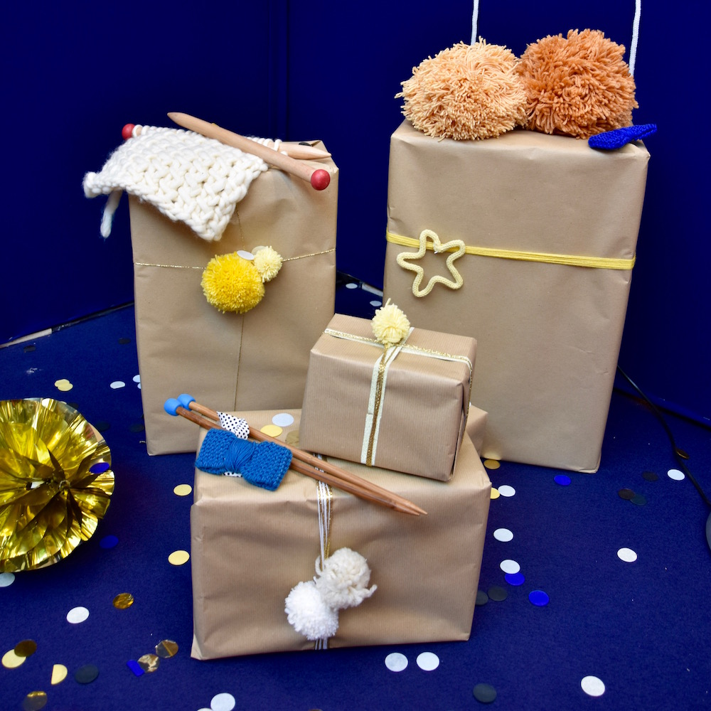 emballage cadeaux en laine