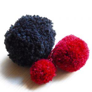 pompon en laine acrylique