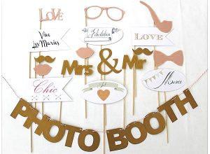 accessoire photobooth en carton