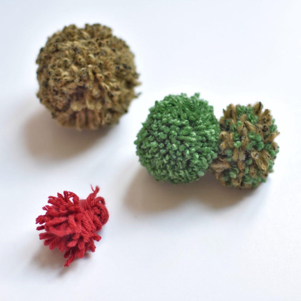 faire un cactus en pompon
