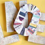 DIY – Comment faire une lettre en carton 3D ?