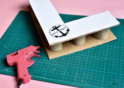DIY facile pour faire une lettre en carton