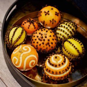 decoration de noel avec des oranges