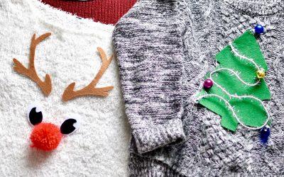 Deux idées pour faire un pull de Noël soi-même