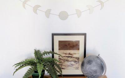 DIY – Fabriquer un bijou de mur lunaire
