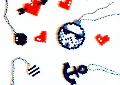 decoration de noel en perle hama