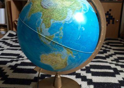 DIY globe terrestre pour urne de mariage