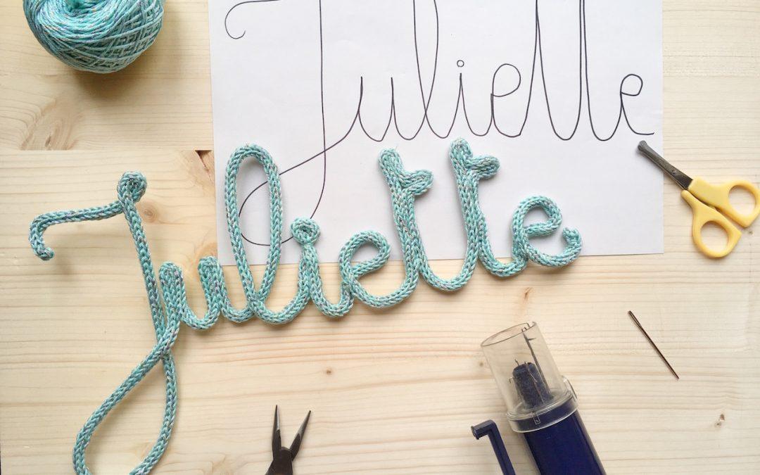 Faire un prénom tricotin