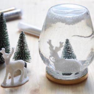 diy boule a neige noel rock and paper. Black Bedroom Furniture Sets. Home Design Ideas