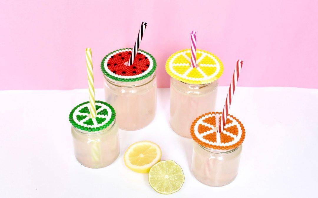 tuto facile pour transformer un pot en verre en verre à limonade grâce à un couvercle pour verre