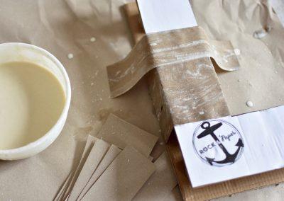 faire des lettres 3D en carton avec du papier à recycler